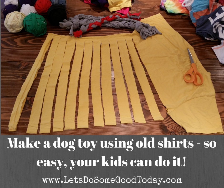 How To Make A Dog Toy With A T Shirt